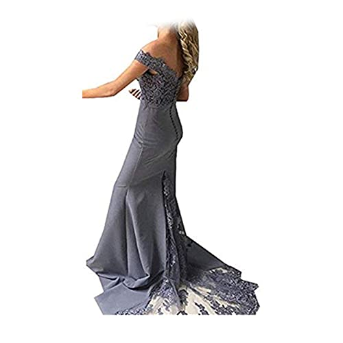 Special Bridal Mermaid Prom Dress Off-The-Shoulder Lace Long Sexy Evening Gown Bridesmaid Dress