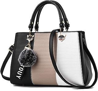 Fashion Lady Handbag Korean Version of The Wild Hair Ball Pendant Shoulder Messenger Bag,Black