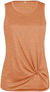 MK988 Womens Slim Fit Casual Sleeveless Pure Color Tank Top Cami Blouse Shirt