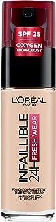 L'Oréal Paris infaillible 24H Fresh Wear Make-up 15 porslin, hög täckkraft, hållbar, vattentät, andas, 30 ml