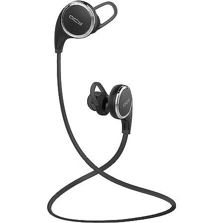 QCY QY8 Bluetooth イヤホン ワイヤレス イヤホン マイク付き ハンズフリー 通話 APT-X CSR 8645 CVC6.0 ノイズキャンセル 防水 防汗 高音質 スポーツイヤホン ブラック QCY-QY8BK