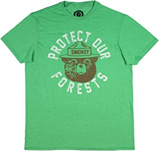Smokey Bear Protect Our Forests Green Graphic T-Shirt