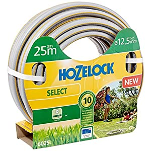 Hozelock 6025P0000 25m PVC Gris, Amarillo – Manguera de jardín (25 m, Gris, Amarillo, Sólo mangueras, PVC, 1,25 cm, Francia)
