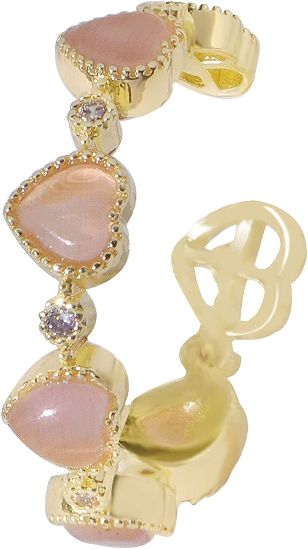 Nmslsj Women Ring Easy Matching Opal Open Ring Wear-Resistant Women Accessories