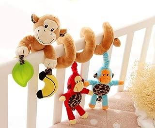 MosBug Infant Baby Activity Spiral Bed & Stroller Toy (Monkey)