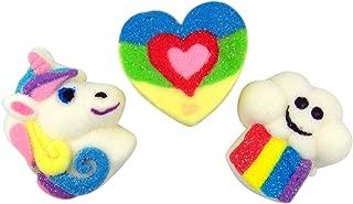 Rainbow Unicorn Assorted Shaped Marshmallows, Pack of 3