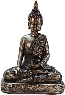 #N/A Meditating Thai Buddha Statues Ornament Figurine, Garden Buddha Statue Sculpture Indoor/Outdoor Decor for Home,Garde...