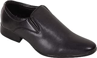 BATA Men Black Pointed Slip On Formal Shoes