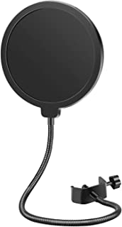 Neewer Professional Microphone Pop Filter Shield Compatible with Blue Yeti and Any Other Microphone, Dual Layered Wind Pop...