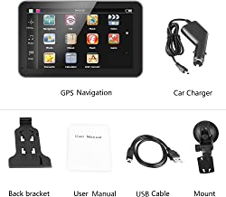 7 Inch Touch Screen GPS Navigation Maps System Device International, GPS Navigator 128M 8GB FM with Lifetime Map Update for Cars Trucks Vehicles(Europe)