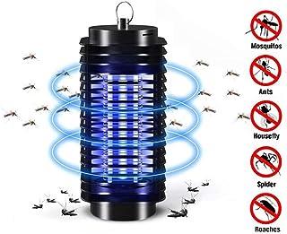 CYYMY Lámpara Antimosquitos,UV Lámpara Anti Mosquitos Destructora de Insectos eléctrica 3W Sin químicos tóxicos,Trampas para Insectos Matamoscas para Interior y Jardin,Negro