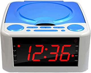 NJC Home CD Player Mp3 Disc Timing Player Children CD Player Repeater Prenatal Music Machine Radio Alarm Clock (Color : Blue)