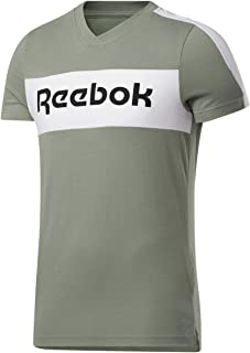 Reebok mens TE Linear Logo SS Graphic Tee T-Shirt