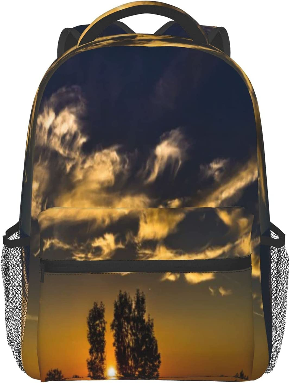 Daily bargain discount sale School Backpack for Boys Girls Teen Travel Sky Cloud Horizon Bag