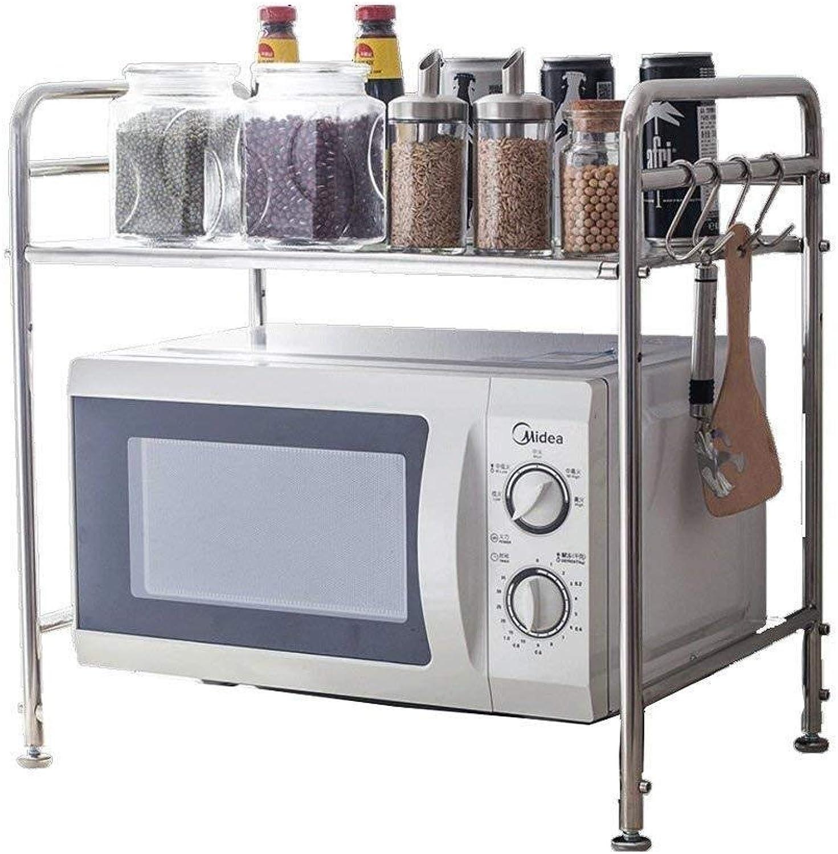 Storage Rack- 304 Stainless Steel Kitchen Microwave Racks Floor Multi-Layer Pot Rack Multi-Function Household Oven Storage ZXMDMZ