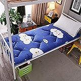 WENZHEN Colchon Plegable Invitados,Impresión Acolchada Tatami Floor Mat colchón futón japonés Plegable Enrollable Topper para el hogar Cama Estudiante Dormitorio-re_90x200 cm (35x79 Pulgadas)