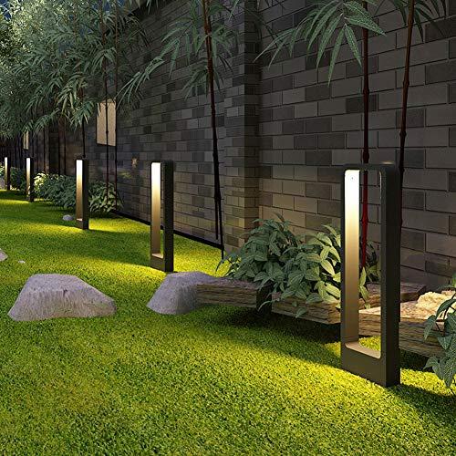Vinmin Garten-Pfosten-Licht im Freien, modernes Design LED-Garten-Licht, Sand-Schwarz-Acrylaluminium-wasserdichtes energiesparendes LED-Span-Rasenlicht,Large