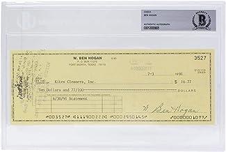 Ben Hogan Signed Personal Check #3527 7/3/1991 Slabbed BAS