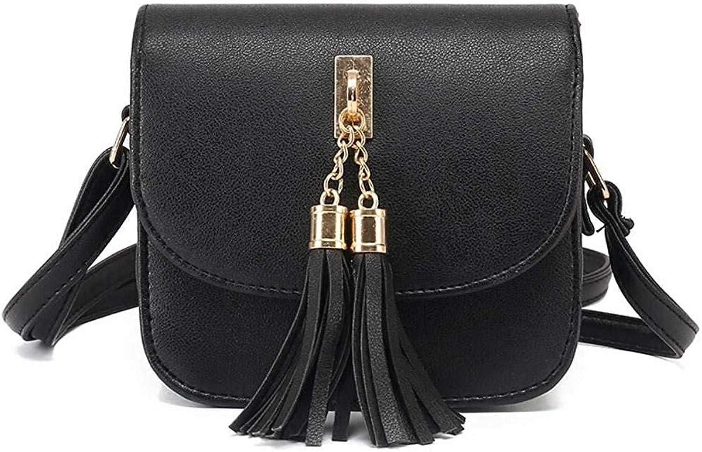 Bloomerang Fashion Women Bag Brand Handbag Bolsa Feminina Small Leather Tote Bag Luxury Tassel Women Shoulder Bags color Black 15x9x14cm