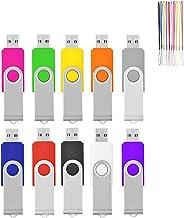 HKUU 100 Packs of 1GB USB Flash Drive, Memory Stick, Thumb Drive, Pen Drive with Indicator Light, Large-Capacity Zip Drive...