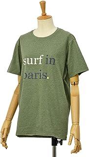 [CUISSE DE GRENOUILLE【キュイス ドゥ グルヌイユ】]プリントカットソー GAGNANT 01 SURF IN Paris コットン ライトカーキ