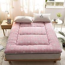 Non-Slip Thicken Japanese Tatami Mat, Japanese Tatami Bed Futon, Foldable Double Futon Mattress Topper for Bedroom Living ...