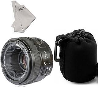 Yongnuo yn50mm F/1.8AF Lens Auto Focus de Apertura para Nikon D800D300D300S D700D600, D5000D5100D5200D5300D5500D3100D3200etc. + inseesi paño Limpio + Lens Pouch Bag