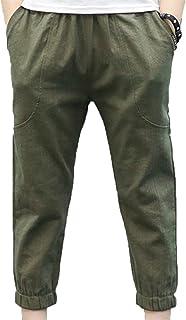 [もうほうきょう]ボーイの夏のズボンの綿とリネンの子供の蚊のズボン大きな子供のズボンの子供服