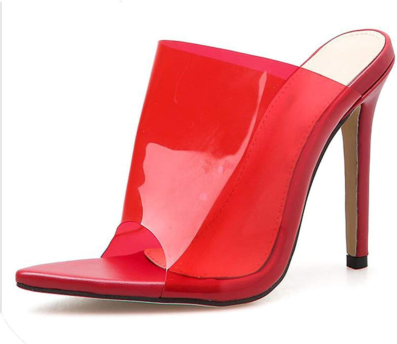 Beauty-inside PVC Jelly Sandals Open Toe High Heels Women Transparent Perspex Heel Clear Sandals Slippers Pumps
