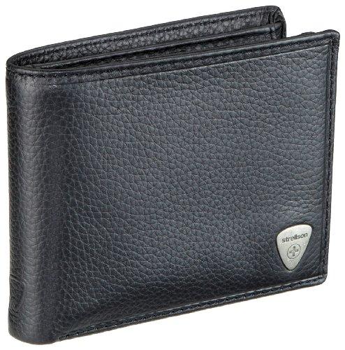 Strellson Kensington 4010000251, Herren Geldbörsen, Schwarz (black 900), 12x10x1 cm (B x H x T)