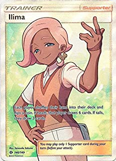 Ilima - 146/149 - Full Art Ultra Rare - Pokemon Sun & Moon