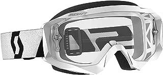 Scott Unisex Adult Hustle X White and Black Goggle, One Size