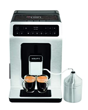 Krups EA891D Evidence Kaffeevollautomat | Barista Quattro Force Technologie | 12 Kaffee-Variationen + 3 Tee-Variationen | One-Touch-Cappuccino Funktion | OLED-Display und Touchscreen