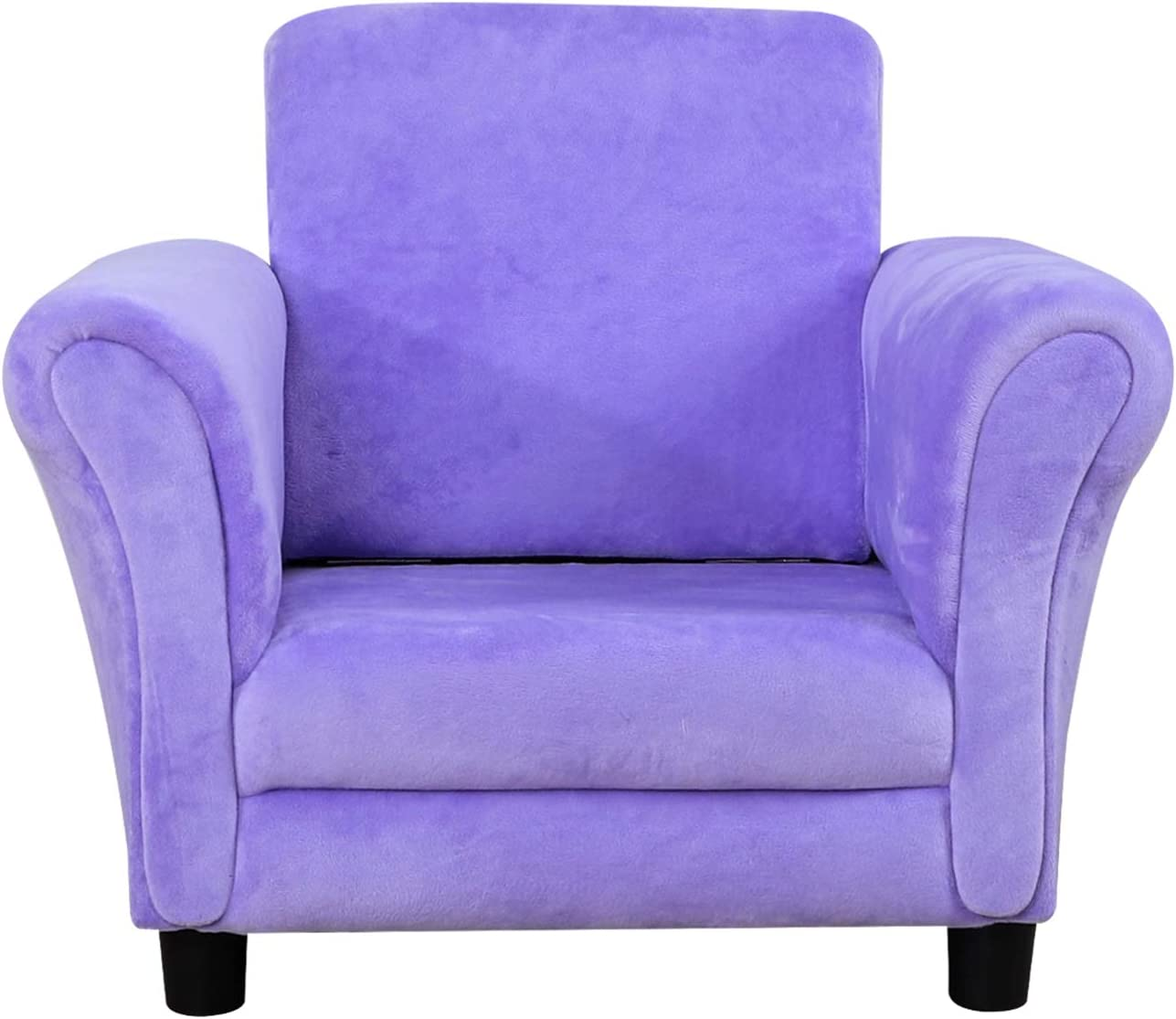 Kid Loveseat and Kid Upholstered Chair,with Luxury Velvet Fabric for Kid Gift Pink Kid Couch Sofa