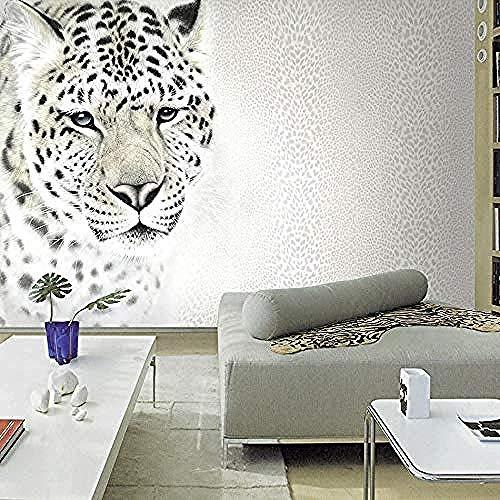Fotobehang Mode Luipaard Luipaard Leopard Animal Muurschildering Woonkamer Slaapbank TV Muur De Non-Woven Zijde Aangepaste 3D Behang Plakken Woonkamer De Muur voor Slaapkamer Mural Border 30 cm.