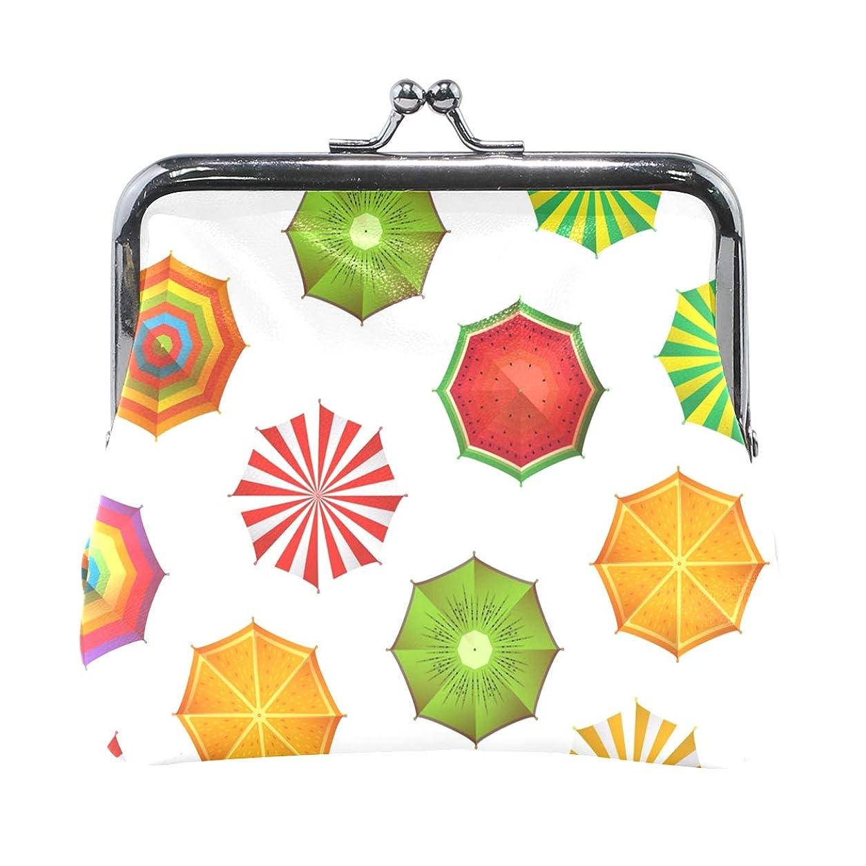 モーション危険を冒します農民がま口 財布 口金 小銭入れ ポーチ 傘 ANNSIN バッグ かわいい 高級レザー レディース プレゼント ほど良いサイズ