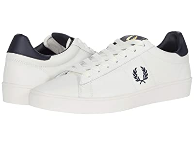 Fred Perry Spencer Leather (Porcelain/Navy) Men