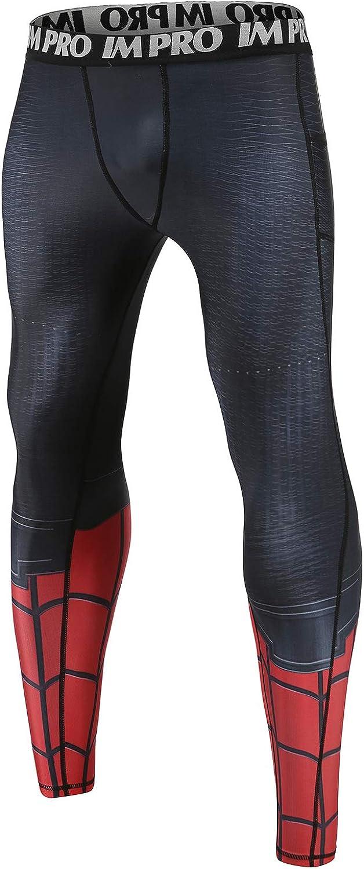 COOLMAX 2 Pocket Spiderman Leggings 3D Printed Men's Compression Pants