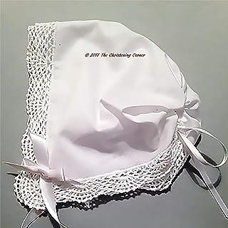 Shell Lace Magic Keepsake Hanky Bonnet – White