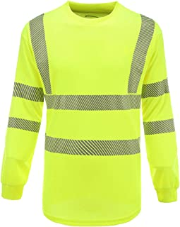 AYKRM Safety High Visibility Long Sleeve Construction Work Shirts Class 3 Workwear | Hi Vis Shirt