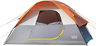 Timber Ridge 6 Person Dome D Door Family Camping Tent and Traveling Tent Portable Rain Fly with Carry Bag