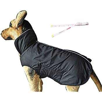 PETCEE Dog Jackets,Dog Winter Coat Warm Dog Clothes Jacket for Small Medium Large Dogs with Lofty Collar Waterproof Windproof Pet Dogs Apparel for Cold Weather - 2 Layer (XS - 5XL)