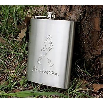 Petacas de Alcohol con Embudo Lobo totem Onebttl Petaca de Acero Inoxidable 6 oz para Whisky//Licor//Ron//vodka Regalos para hombre//mujer