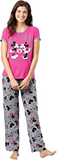 Disney Pajamas Women - Disney PJs for Women, Minnie Mouse, Pink
