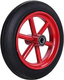 YJJT Vervangende Caster wiel, Massief rubberen wielen, Belasting 180kg per wiel, Lager binnendiameter 20mm, 4/5 inch, Ant...