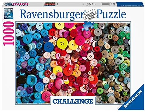 Ravensburger Puzzle 16563 - Challenge Puzzle Knöpfe - 1000 Teile Puzzle für Erwachsene und Kinder ab 14 Jahren