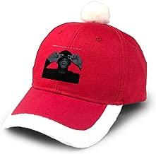 Honghuawenhua Merry Christmas Fashion Soft Jay-Z The Black Album Cotton Adjustable Baseball Cap Red Gift