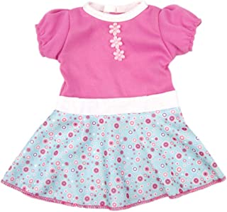 AOFUL Baby Doll Dress Clothes, Custom Design Flower Patterns Outfit Fits 14'' 16 inch Alive American Girl Dolls and More