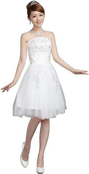 Plaer Damen Fashion Kurz Tutu Hochzeit Die Braut Toast Kleid Abend Kurzes Kleid Amazon De Bekleidung