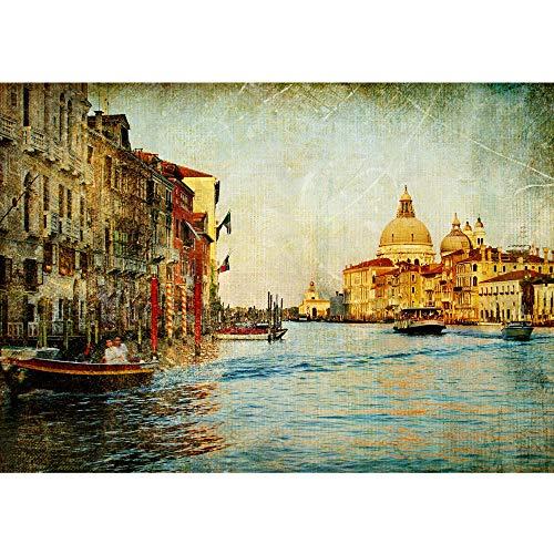 Carta da parati non tessuta- PREMIUM PLUS - 200x140cm - Fotomurali Immagine Venezia canale italia Italia città acqua variocolore - no. 0228